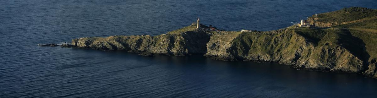 Vue aérienne du cap Béar
