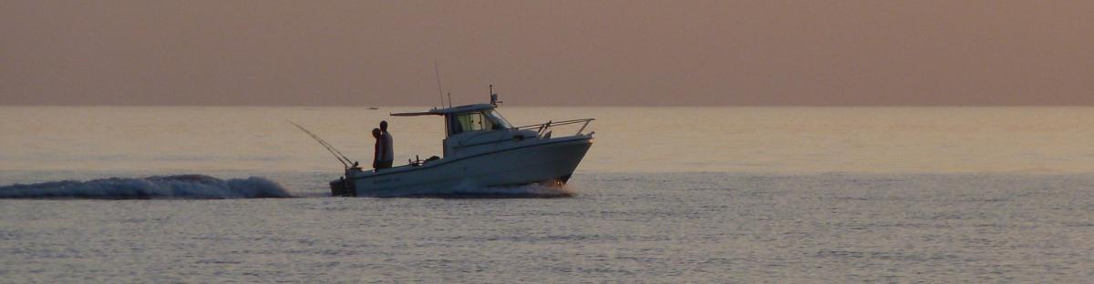 Pêche récréative embarquée au large de Saint-Cyprien
